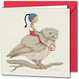 "Carte postale ""La chouette""."