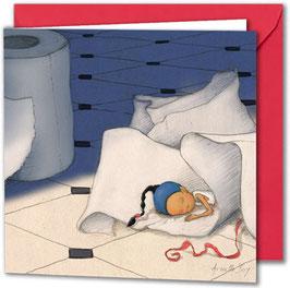 "Carte postale ""La sieste""."