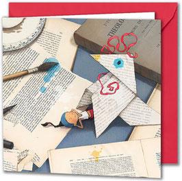 """Carte postale """"La cocotte""""."""