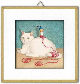 """Toup'tit Carré """"Le chat blanc""""."""