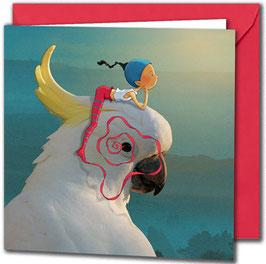 """Carte postale """"Le cacatoès""""."""