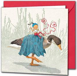 """Carte postale """"Hue canard !""""."""