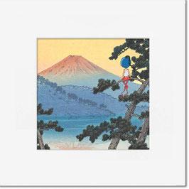 """Tirage limité """"Le Mont Fuji""""."""