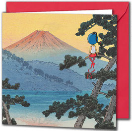 "Carte postale ""Le Mont Fuji""."