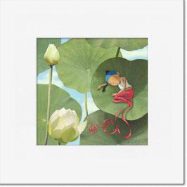 """Tirage limité """"À l'ombre du lotus""""."""