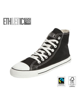 Sweatshopfreie Fair-Trade- & Bio-Chucks schwarz