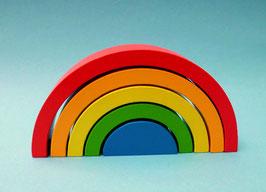 Holzbausteine Regenbogen Motorikspielzeug Geschicklichkeitsspiel Lernspiel