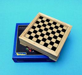 Holz-Spielesammlung von Philos praktisch für die Reise