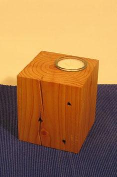 Teelichthalter Leuchter aus Altholz Upcycling