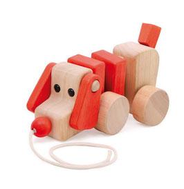Zieh-Hund Wackelhund Ziehtier Nachziehspielzeug