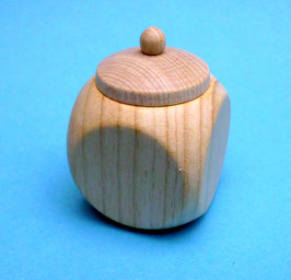 Kleine Holzdose mit Deckel Natur