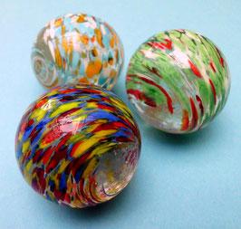 Dekorative große Murmeln aus Glas 3er-Set