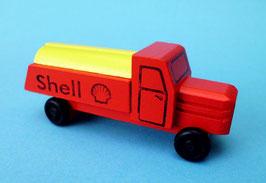 Erzgebirgisches Holzspielzeug Miniatur LKW farbig Tankwagen