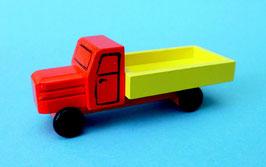 Erzgebirgisches Holzspielzeug aus Seiffen Miniatur LKW farbig, Pritsche