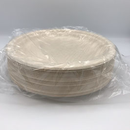 "Plates, 9"" Compostable, Sleeve"