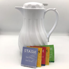 Tea, 5 Tea Bags with Hot Water