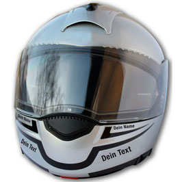 Smilie-Dekor + Dein Name + Dein Text | für Schuberth C3 / C3 Pro