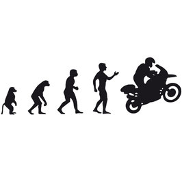 Evolution | Aufkleber | schwarz