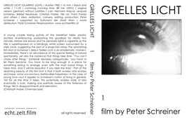 DVD Film 01 - GRELLES LICHT / GLARING LIGHT