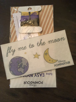 "Set broderie ""flying to the moon"""