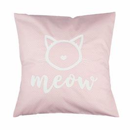 """Kissen """"Meow"""" Rosa"""