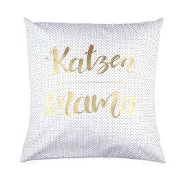 "Kissen ""Katzenmama"" Weiß"