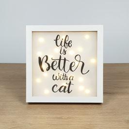 "Bilderrahmen ""Life with a cat"""