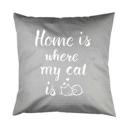 """Kissen """"Home"""" Grau"""