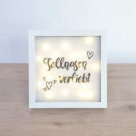 """Bilderrahmen """"Fellnasen verliebt"""""""