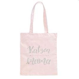 """Stoffbeutel """"Katzenmama"""" Rosa"""