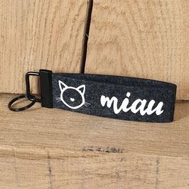 """Schlüsselanhänger """"Miau"""""""
