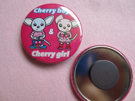 Cherry boy & girl 56mmマグネット