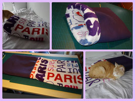 "Kuschelsack ""Paris"", lila"