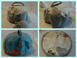 Windschutz für Kleintierboxen, aus Fleece