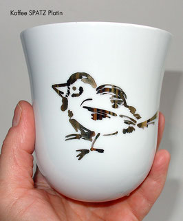 Tasse YOU  SPATZ/ EULE/ HASE/ MEISE in Platin/ Gold