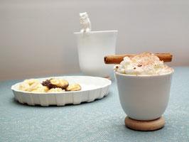 YOU Espressotasse biskuit auf Holzring