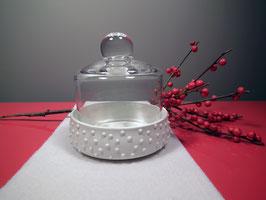 Bonboniere Porzellan mit Glas