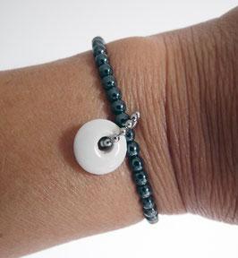Armband Hämatit Porzellan