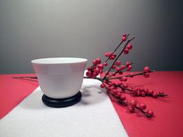 """Teeschale """"limited edition"""" mit schwarzen Holzringen"""