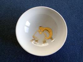 Kleine Schale mit goldenem Widder Unikat