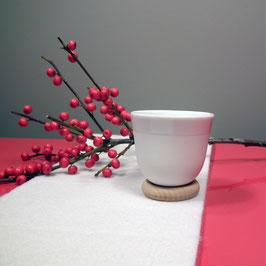 Espressobecher YOU Porzellan auf Holzring