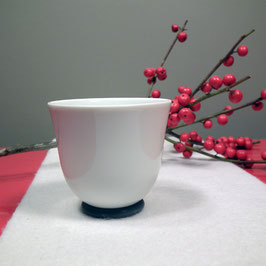 Espressobecher YOU Porzellan glasiert auf Silikonring