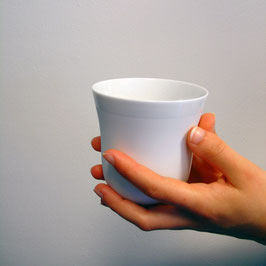 YOU Biskuitporzellan Tasse mit Buchenholz Ring
