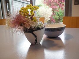 Unikat Vase Hellblau