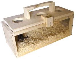 Transportbox/Reisebox aus Kiefernholz für Nager