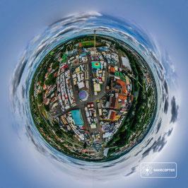 """Fotodruck """"Kreuznacher Jahrmarkt - Tiny Planet"""""""