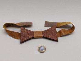 188. Wooden Bow tie. Yes, wooden. With leather strap and velcro fastening.