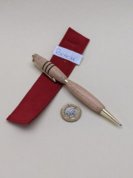 194. Covetable hand-turned wooden pen in Beech.