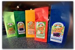 Sanddorn-Tee, verschiedene Variationen