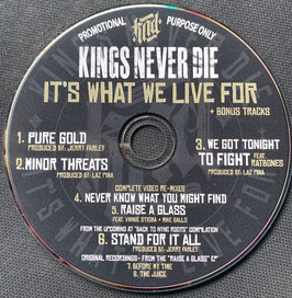 """""""KINGS NEVER DIE"""" Promo CD (Limited to 20pcs)"""